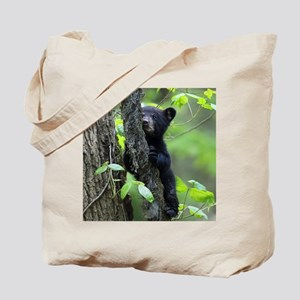 Black Bear Cub Tote Bag