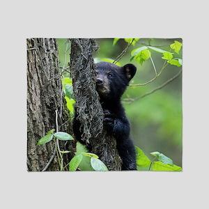 Black Bear Cub Throw Blanket