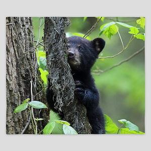 Black Bear Cub King Duvet