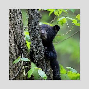 Black Bear Cub Queen Duvet