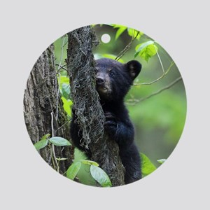 Black Bear Cub Round Ornament