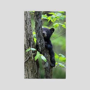 Black Bear Cub Area Rug