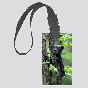 Black Bear Cub Large Luggage Tag