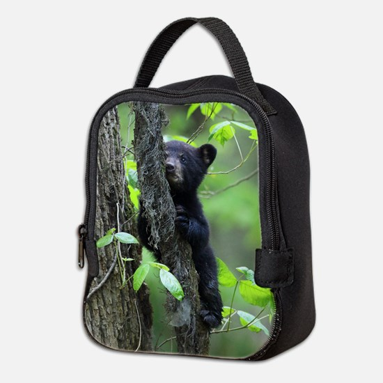 Black Bear Cub Neoprene Lunch Bag