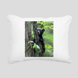 Black Bear Cub Rectangular Canvas Pillow
