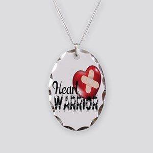 heart warrior Necklace Oval Charm