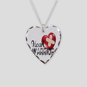 heart warrior Necklace Heart Charm