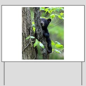 Black Bear Cub Yard Sign