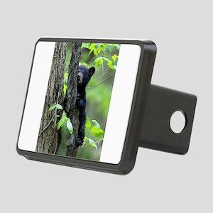 Black Bear Cub Rectangular Hitch Cover