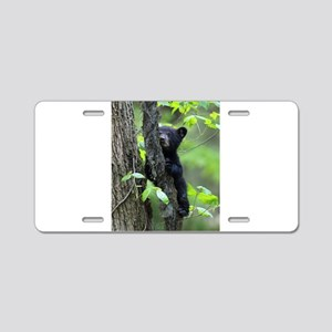 Black Bear Cub Aluminum License Plate