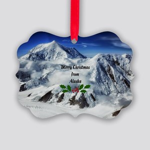 Merry Christmas from Alaska Picture Ornament