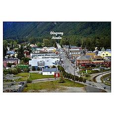 Skagway, Alaska scenic photo Poster