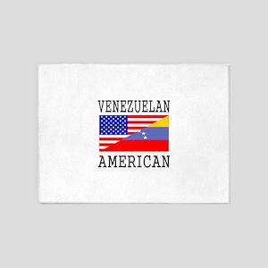 Venezuelan American Flag 5'x7'Area Rug