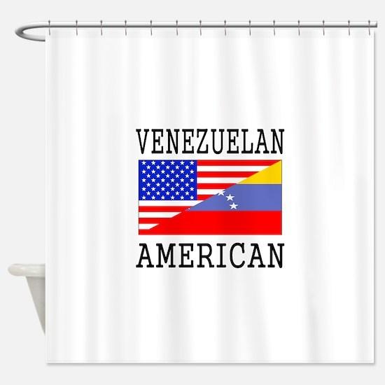 Venezuelan American Flag Shower Curtain