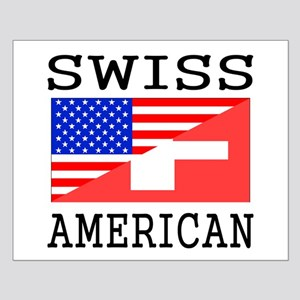 Swiss American Flag Posters
