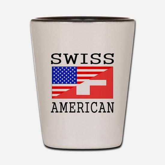 Swiss American Flag Shot Glass