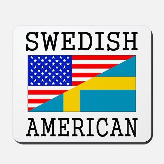 Swedish American Flag Mousepad