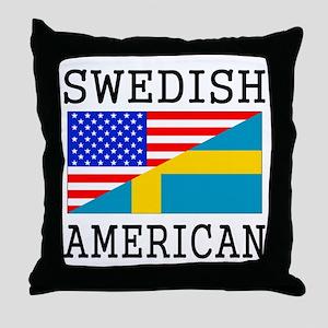 Swedish American Flag Throw Pillow