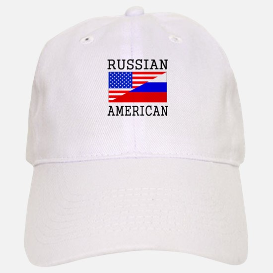 Russian American Flag Baseball Baseball Baseball Cap