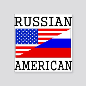 Russian American Flag Sticker