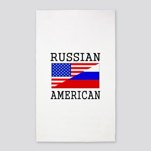 Russian American Flag Area Rug
