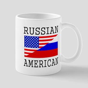 Russian American Flag Mugs