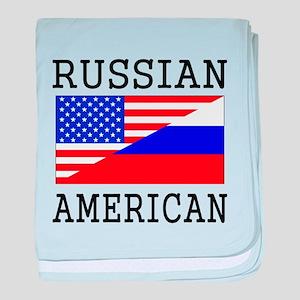 Russian American Flag baby blanket