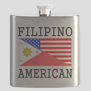 Filipino American Flag Flask