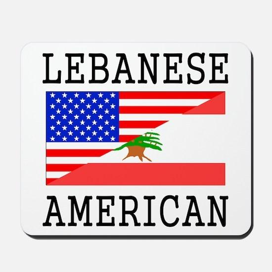 Lebanese American Flag Mousepad