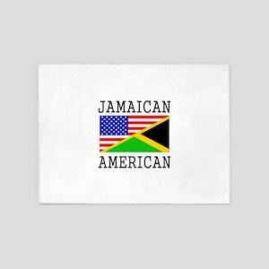 Jamaican American Flag 5'x7'Area Rug