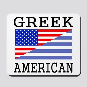 Greek American Flag Mousepad