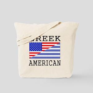 Greek American Flag Tote Bag