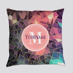Colorful Mosaic Pattern Personaliz Everyday Pillow