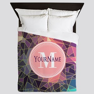 Colorful Mosaic Pattern Personalized Queen Duvet