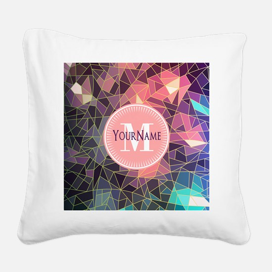 Colorful Mosaic Pattern Perso Square Canvas Pillow