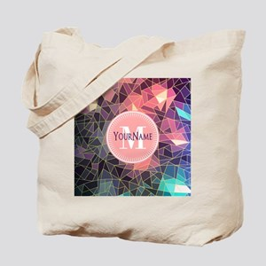 Colorful Mosaic Pattern Personalized Tote Bag
