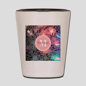 Colorful Mosaic Pattern Personalized Shot Glass