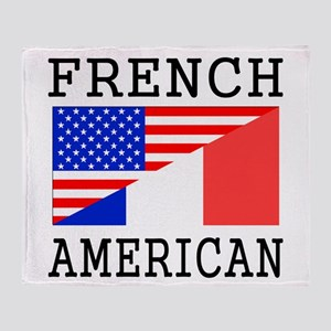 French American Flag Throw Blanket
