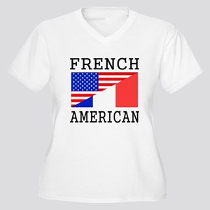 French American Flag Plus Size T-Shirt