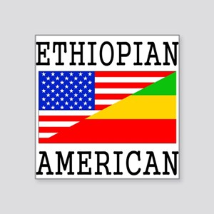Ethiopian American Flag Sticker