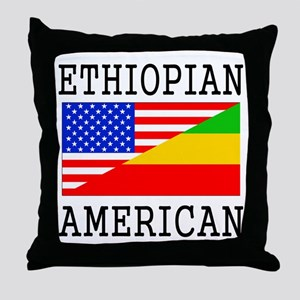 Ethiopian American Flag Throw Pillow