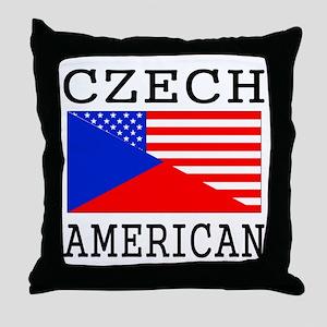 Czech American Flag Throw Pillow
