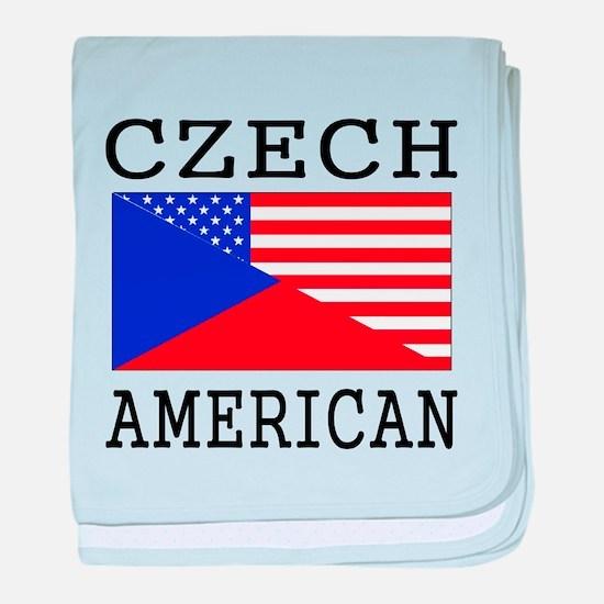 Czech American Flag baby blanket