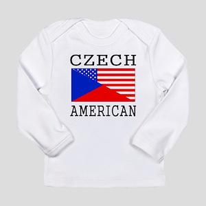 Czech American Flag Long Sleeve T-Shirt
