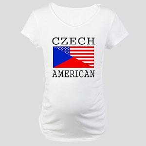 Czech American Flag Maternity T-Shirt