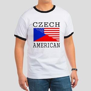 Czech American Flag T-Shirt