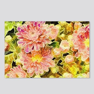 Floral Pink Postcards (Package of 8)