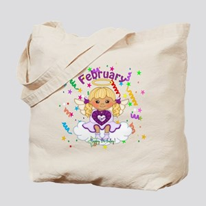 February Birthstone Angel Tote Bag