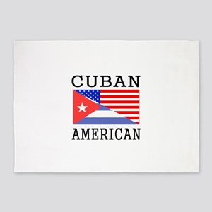 Cuban American Flag 5'x7'Area Rug