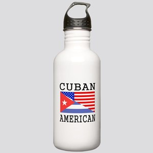 Cuban American Flag Water Bottle